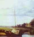 Bonington Richard Parkes River Scene in France
