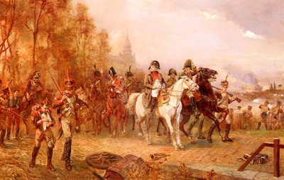 hillingford robert alexander napoleon with his troops at the battle of borodino