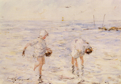 Hutchinson Robert Gemmell Gathering Shells At The Beach