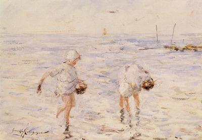 Hutchinson Robert Gemmell Gathering Shells At The Beach