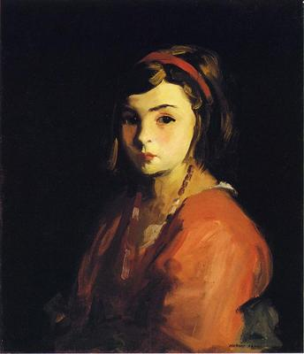 Henri Robert Little Girl in Red