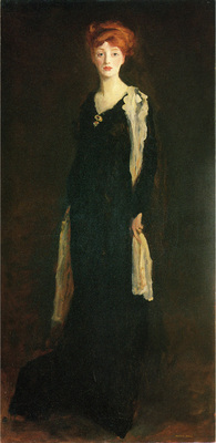 Henri Robert O in Black with Scarf aka Marjorie Organ Henri