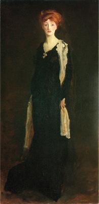 Henri Robert O in Black with Scarf aka Marjorie Organ Henri