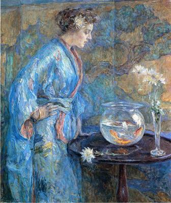 Reid Robert Lewis Girl in Blue Kimono