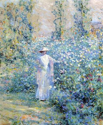 Reid Robert Lewis In the Flower Garden