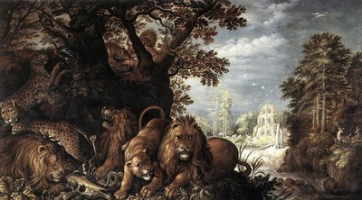 SAVERY Roelandt Landscape With Wild Animals