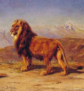 Lion in a Landscape