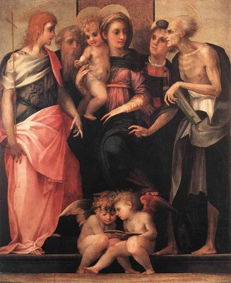 ROSSO FIORENTINO Madonna Enthroned With Four Saints