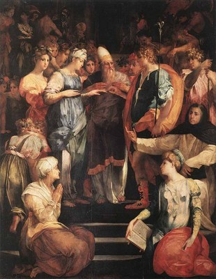 ROSSO FIORENTINO Marriage Of The Virgin