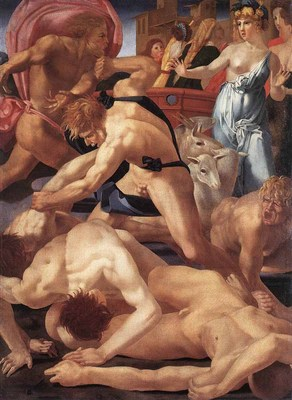 ROSSO FIORENTINO Moses Defending The Daughters Of Jethro