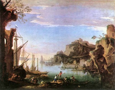 ROSA Salvator Harbour With Ruins