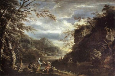 ROSA Salvator River Landscape With Apollo And The Cumean Sibyl