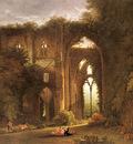 Colman Samuel Tintern Abbey With Elegant Figures
