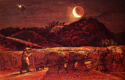 Palmer Samuel Cornfield By Moonlight