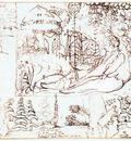 PALMER Samuel Sketchbook folio 5 Verso