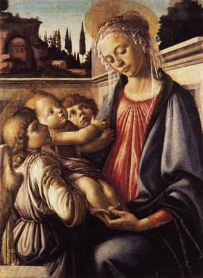 BOTTICELLI Sandro Madonna And Child And Two Angels