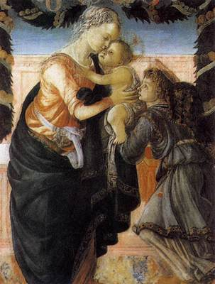 botticelli sandro madonna and child with an angel