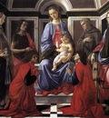 BOTTICELLI Sandro Madonna And Child With Six saints