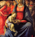 Botticelli Sandro The Virgin with the child and five angels