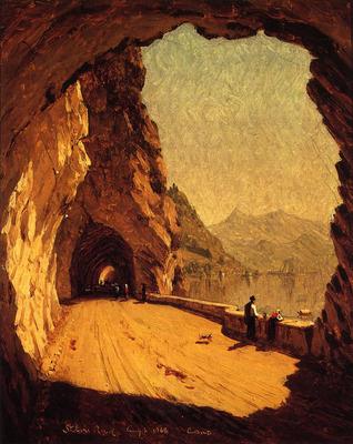 Gifford Sanford Robinson Stelvio Road by Lago di Como