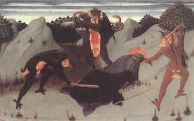 SASSETTA St Anthony The Hermit Tortured By The Devils