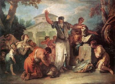 RICCI Sebastiano Sacrifice To Silenus