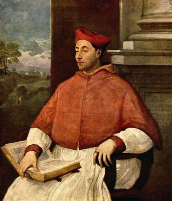 Piombo Sebastiano del Portrait of Antonio Cardinal Pallavicini