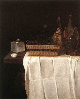 STOSKOPFF Sebastien Still Life With Glasses And Bottles