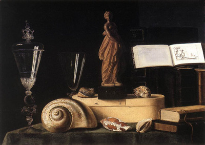 STOSKOPFF Sebastien Still Life With Statuette And Shells