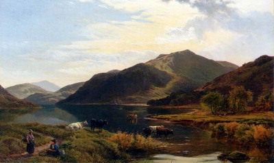 Percy Sidney Richard Cattle By A Lake