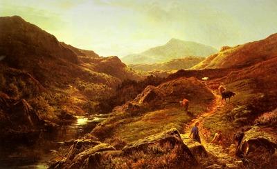Percy Sidney Richard Moel Siabod from Glyn Lledr