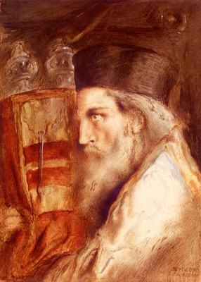 Solomon Simeon A Rabbi Holding The Torah