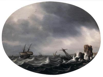 VLIEGER Simon de Stormy Sea