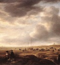 VLIEGER Simon de Beach Near Scheveningen With Fish Sellers