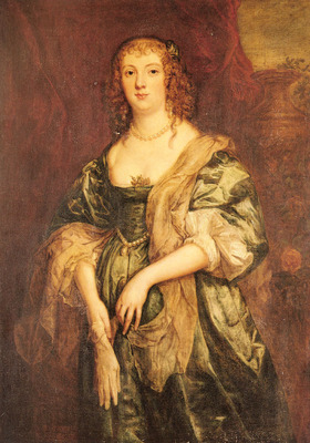 Dyck Sir Anthony Van Portrait Of Anne Carr Countess Of Bedford