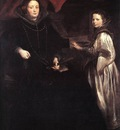 DYCK Anthony Van Portrait of Porzia Imperiale and Her Daughter