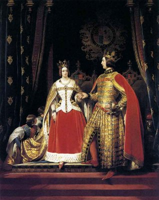 landseer sir edwin henry queen victoria and prince albert at the bal costume of may