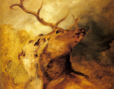 Landseer Sir Edwin Henry Stag And Hound