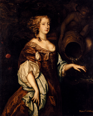 Lely Sir Peter Portrait Of Diana Countess Of Ailesbury