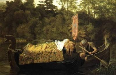 SophieAnderson ElaineorTheLilyMaidofAstolat1870