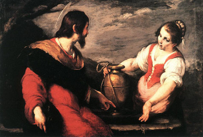 STROZZI Bernardo Christ And The Samaritan Woman