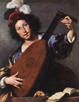 STROZZI Bernardo Lute Player