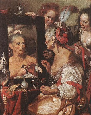 STROZZI Bernardo Old Woman At The Mirror