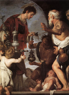 strozzi bernardo the charity of st lawrence 1639