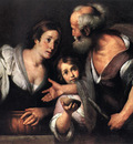 STROZZI Bernardo Prophet Elijah And The Widow Of Sarepta