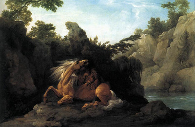STUBBS George Lion Devouring A Horse