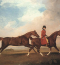 STUBBS George William Anderson With Two Saddle horses