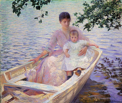 Mother and Child in a Boat MFA