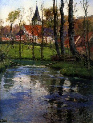 Frits Thaulow The Old Church by the River