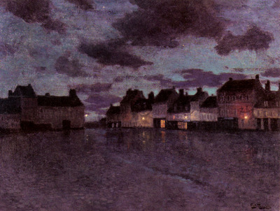 Thaulow Frits Marketplace In France After A Rainstorm